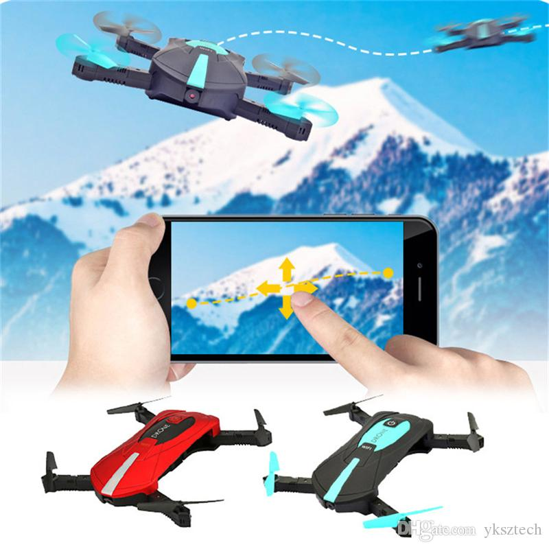 Pocket Selfie Drone JY018 Elfie Foldable Mini Selfie Drones RC Quadcopter WiFi FPV 720P HD G-sensor Headless Mode Helicopter PK H37