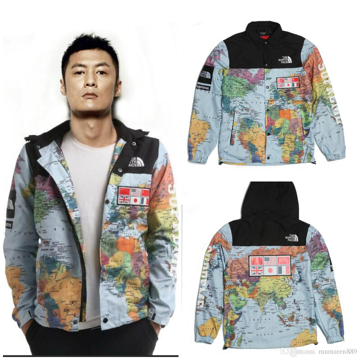 Europe and the united states tide brand sup tnface map of the world map jacket hooded windbreaker jacket europe and the united states tide brand sup tnface map of the world map jacket hooded windbreaker jacket denim jacket sheepskin collar jackets styles  Choice Image