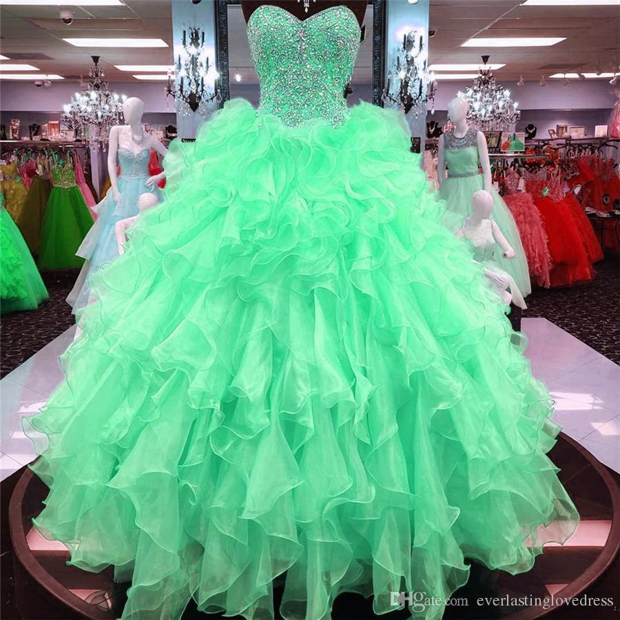 공 가운 Quinceanera 드레스 구슬과 Sweetheart 섹시한 16 드레스와 함께 주름 장식 치마 드레스 졸업식 드레스 패턴