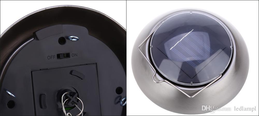 Moda Güneş Enerjili Renk Değiştirme Cam Topu LED Işık Bakır Asılı Rüzgar Chime Işık Yard Dekor