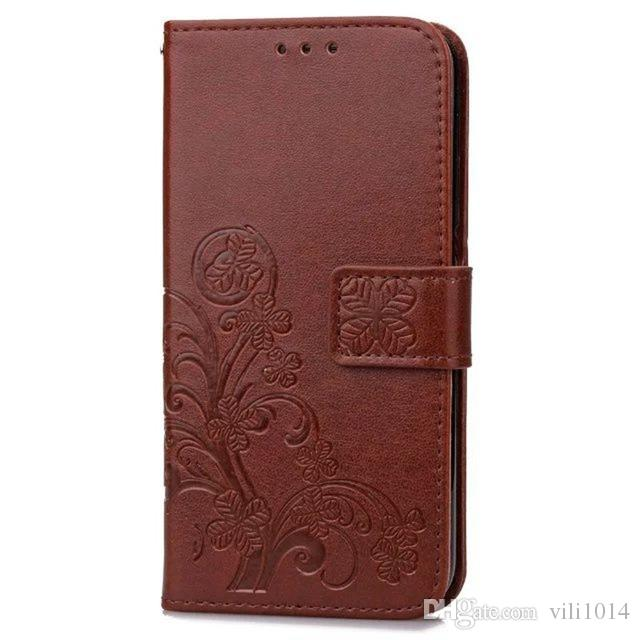 Four Leaf Clover Case for Samsung Galaxy Note2 Note3 Note4 Note5 Note6 Note7 Cover Flip Wallet Case Phone Coque PU Leather Embossed