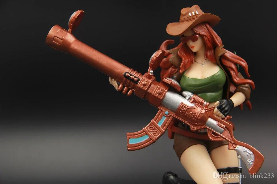 2017 The Sheriff Of Piltover Caitlyn Figures LOL Champions Action Figures League of Legends Game Accessories Cute Cartoon Q Model Toys Dolls