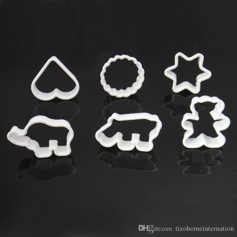 Plastic various shape Cookie or fruit Cutter Baking Tools Pastry DIY Biscuit Cookie Mold Craft Chocolate Mould