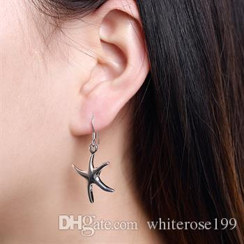 Wholesale - lowest price Christmas gift 925 Sterling Silver Fashion Earrings E062