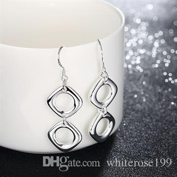 Großhandel - niedrigster Preis Weihnachtsgeschenk 925 Sterling Silber Mode Ohrringe E26