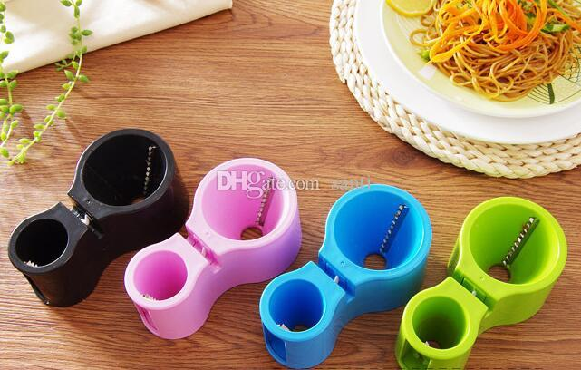 Vegetable Spiralizer Vegetable Noodle Cutter Zucchini Noodle Pasta Spaghetti Spirals Maker Julienne Cutter Peeler
