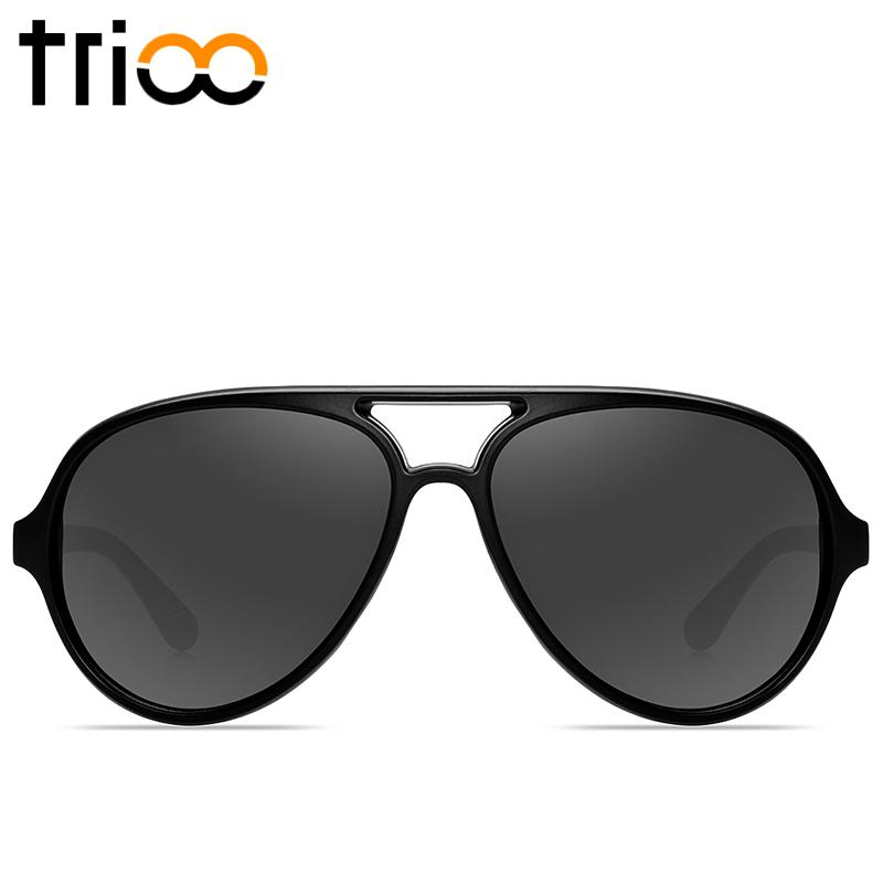 Wholesale- TRIOO Vintage Pilot Sun Glasses For Men Brand Colorful Cool  Shades Summer UV400 Mens Lunette High Quality Matte Frame Sunglasses Glasses  Drive ... 18255fbca7bd