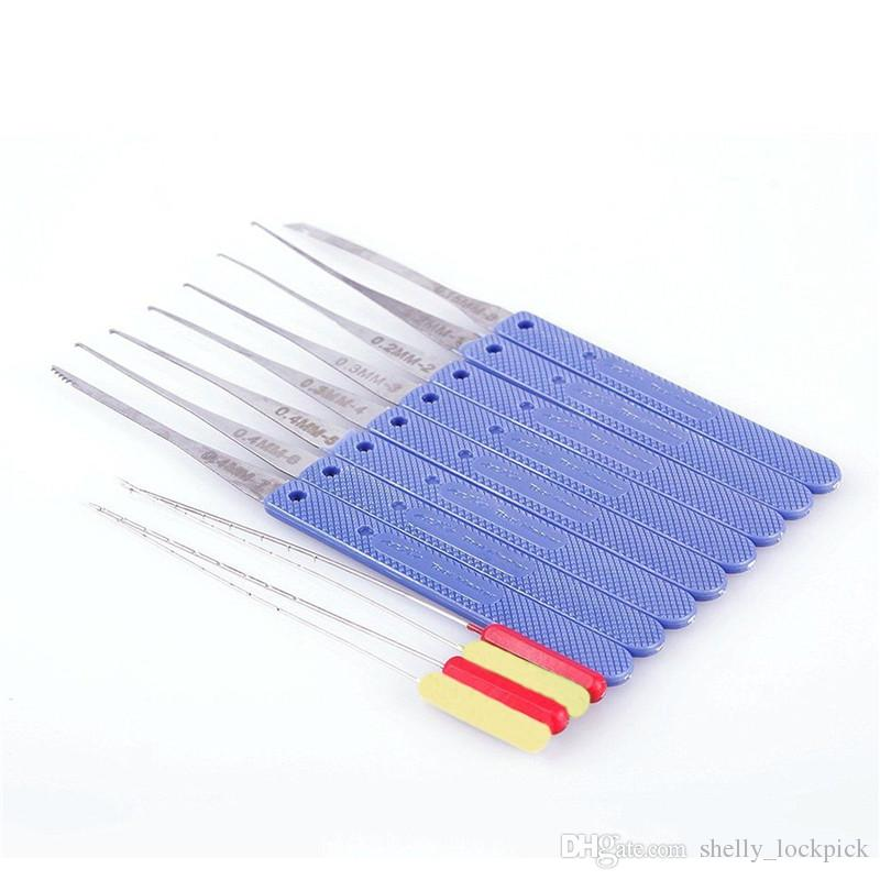 Kaliteli KLOM 12 adet kırık anahtar çıkarıcı seti pick kilit seti çilingir araçları kaldırma kancalar iğne