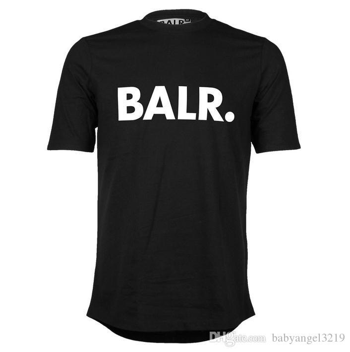 Ücretsiz Kargo erkek T Shirt Balr sokak gelgit marka kısa kollu yuvarlak boyun gevşek kısa kollu pamuklu erkek kişilik erkek T-shirt
