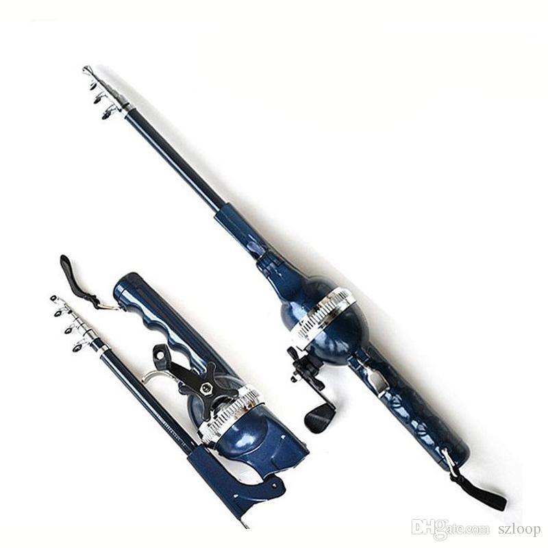 Pole Combo Fibra di vetro Canna da pesca Lenza Pesca Spinning Rod Linea 133/158 cm Pieghevole Telescopico Pesca All'ingrosso 2508081