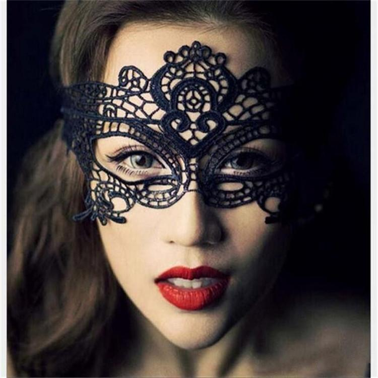 Worldwide Black Sexy Lady Halloween Lace Mask Cutout Eye Mask for Masquerade Party Fancy Mask Costume for Halloween Party