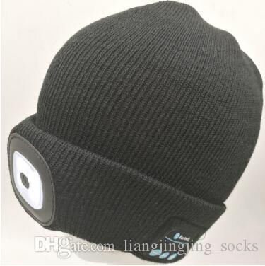 3046d899ea437 Winter LED Beanies Rechargeable Music Hat Sports Beanie Knitted Cap Camping Fishing  Hat Unisex Bluetooth Beanies CCA7718 Newborn Hats Knit Beanie From ...