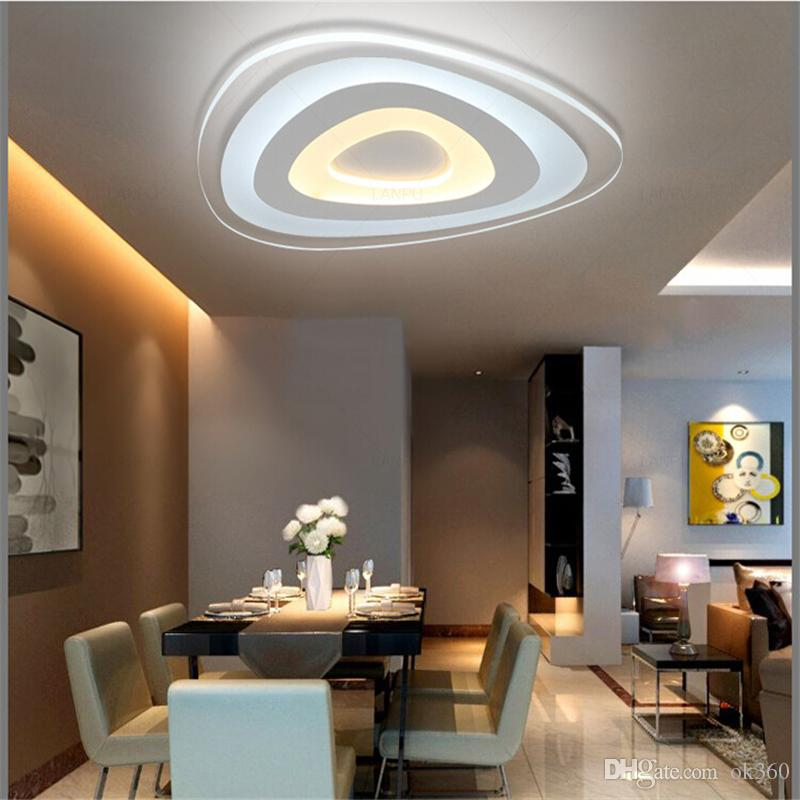2019 ultra thin acrylic modern led ceiling lights for living room rh dhgate com led lighting for living room led lighting for living room ideas
