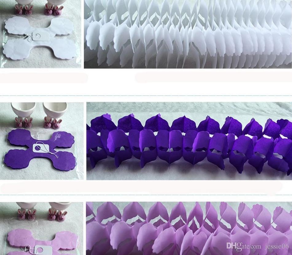 Висячие гирлянды четырехлистный клевер баннер бумажные цветы кисточкой ткани свадьба декор рождественские украшения многоразовые 3.6 m подарок