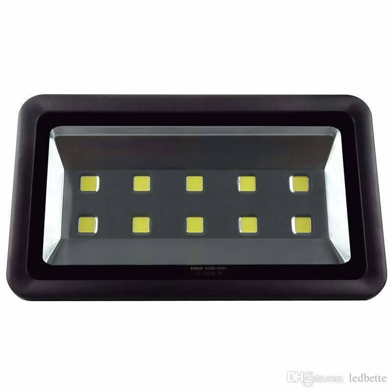 IP65 500W Focos reflectores Led Proyectores de alta potencia Al aire libre Iluminación de gasolinera Led Impermeable Led Canopy Lights AC 85-277V