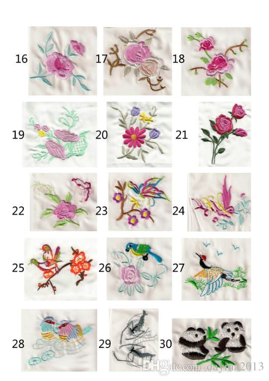 Popular gift Chinese style embroidered silk handkerchief christmas wedding birthday gift Charm Silk Facecloth Special Gifts free ship