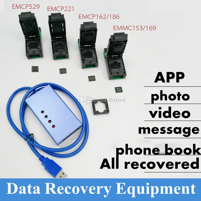 Universal test socket EMMC153/169 eMCP162/186/221/529 support many  different eMMC emcp chips android phone data recovery