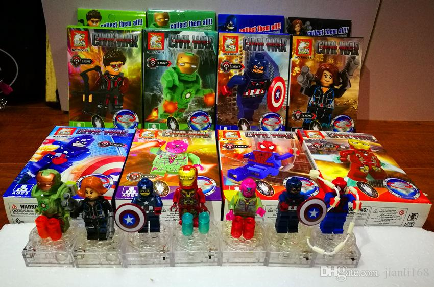 New style Super hero The Avengers alliance building blocks sets action minifigures toys DIY educational toy A4