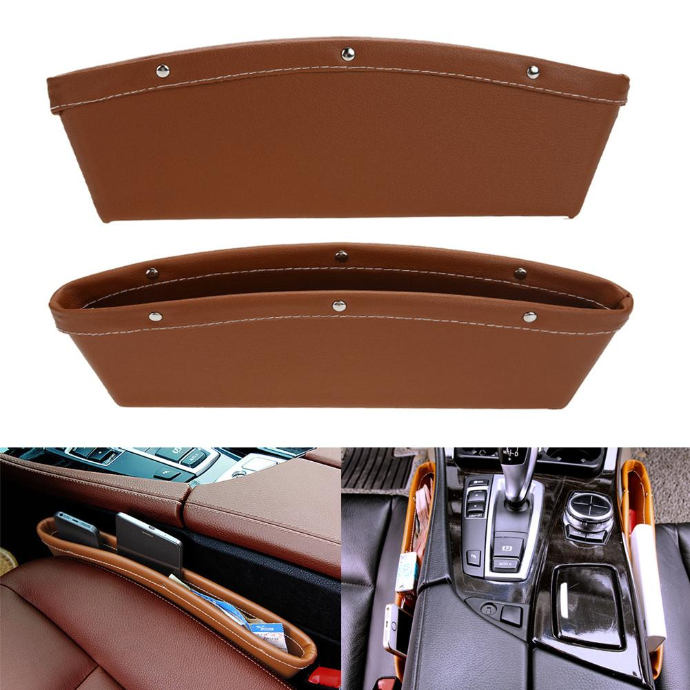 Creative Car Storage Box Leather Auto Car Seat Gap Pocket Catcher ...