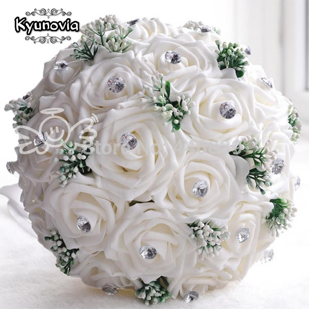 Online cheap new in stock gorgeous handmade wedding flowers white online cheap new in stock gorgeous handmade wedding flowers white bridesmaid bridal bouquets artificial rose wedding bouquet fe01 by yigu001 dhgate mightylinksfo