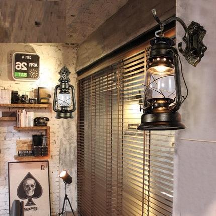 2018 loft art deco led wall sconce industrial kerosene lamp vintage wall light for home antique. Black Bedroom Furniture Sets. Home Design Ideas