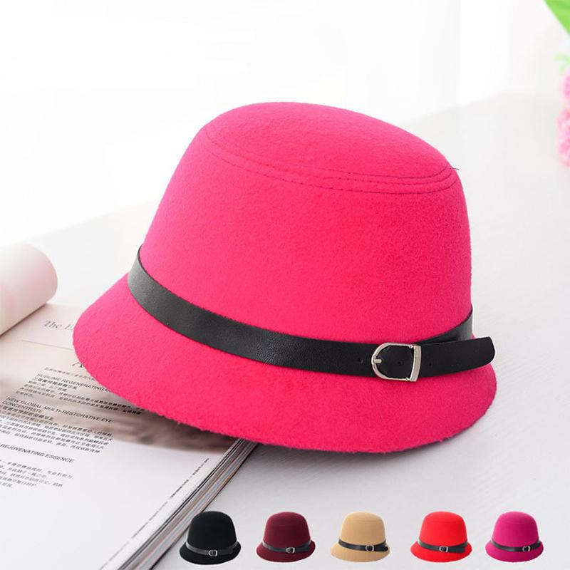 2019 Spring Winter Lady Top Hats Fashion Women Bucket Hats Felt Trilby Hat  Female Stingy Brim Hats GH 39 From Gslyy0712 55bb8892bd1
