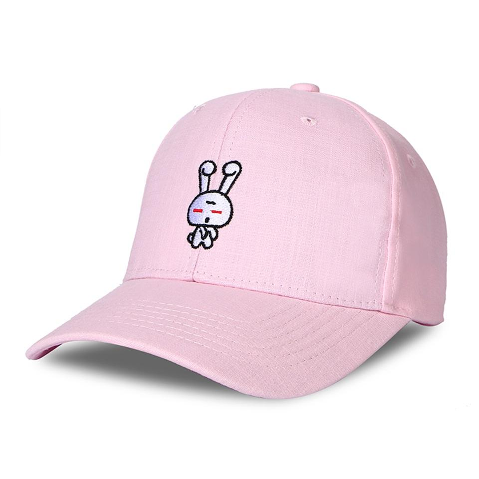 7d636e4d6fd Rabbit Summer Baseball Cap Women Cartoon Embroidery Brand Dad Hat Candy  Color Snapback Hiphop Trucker Cap Men Gorro Bone Wholesale Hats Caps Online  From ...
