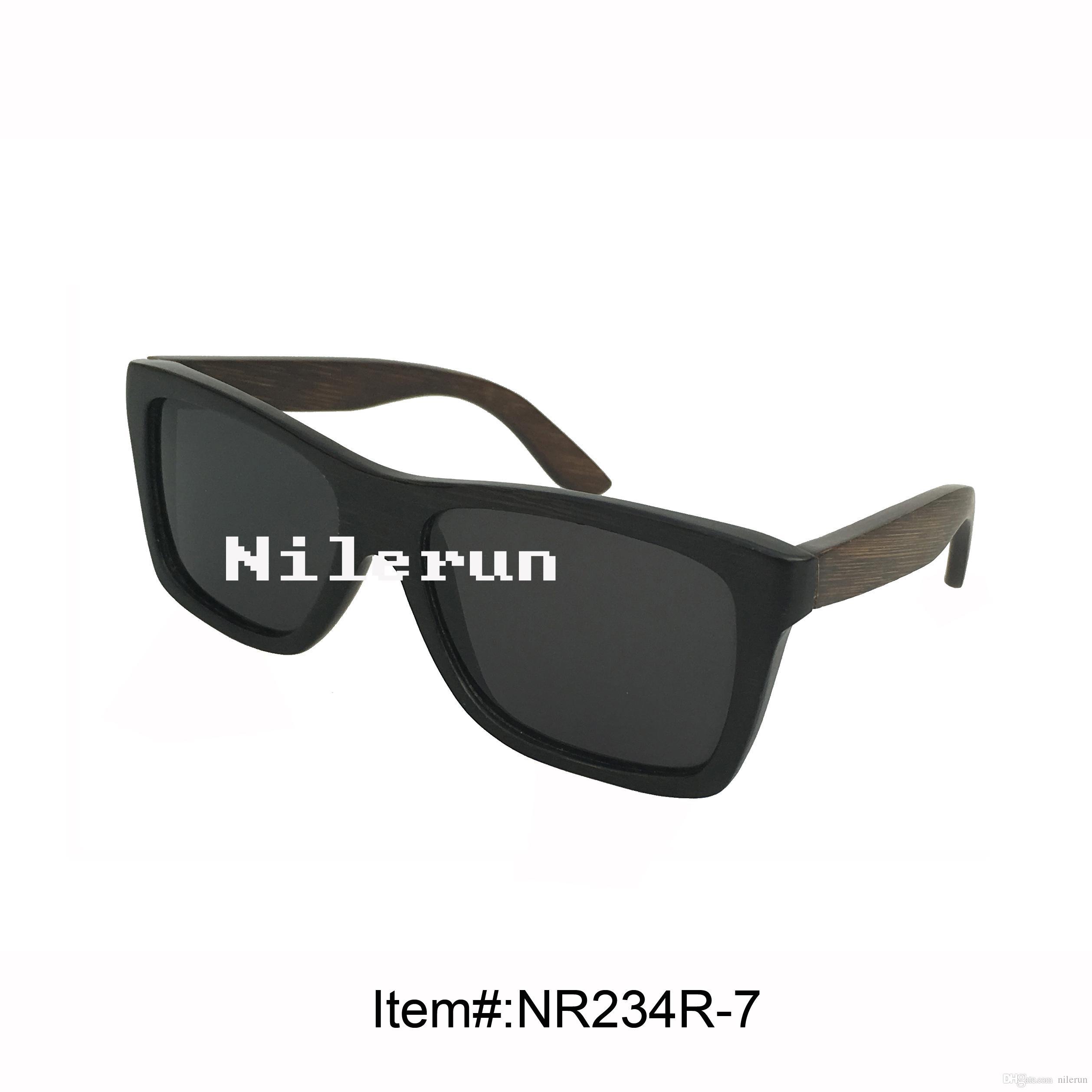 f3d18d1746 Compre Lentes Polarizadas Negras De Lujo Negro Gafas De Sol Negras De Bambú  Del Marco A $13.07 Del Nilerun | Dhgate.Com