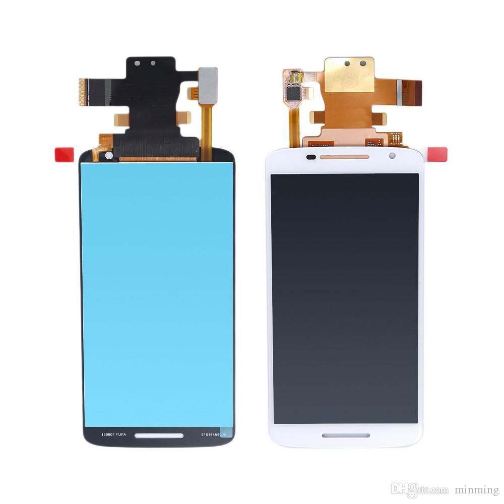 high quality LCD Display For Motorola Moto X Play LCD Screen Touch Screen with Digitizer with Frame Assembly Replacement Black/White