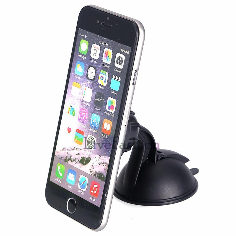 Universal Magnet Magnetic Car Dashboard Mount Phone Holder Windshield Suction Cup Rotatable Stand Holder for iphone Samsung Cell phone GPS