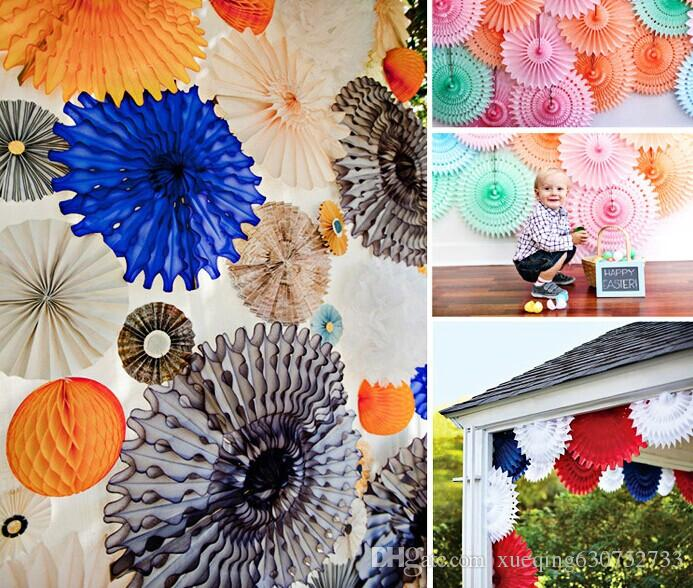 Wholesale 20cm tissue paper cut out paper fans pinwheels hanging wholesale 20cm tissue paper cut out paper fans pinwheels hanging flower paper crafts for showers wedding party birthday festival by xueqing630752733 under mightylinksfo