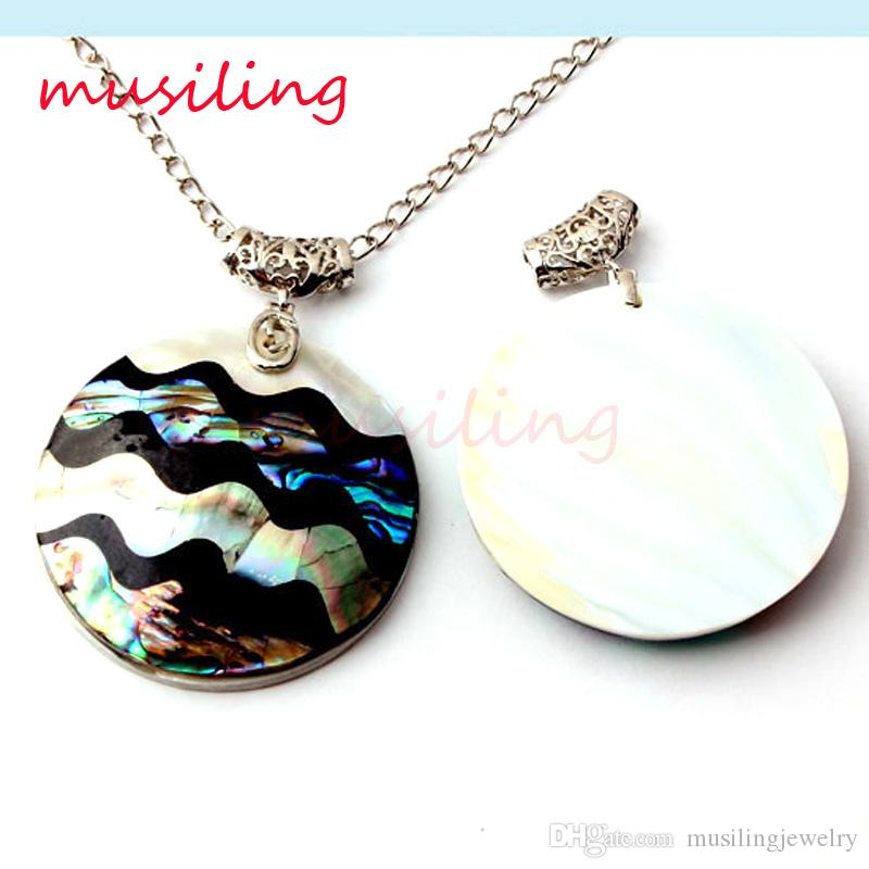 Necklace Pendants Abalone Shell Splicing Pendant Mens Jewelry Chain Variety Design Round Accessories European Trendy Jewelry gifts