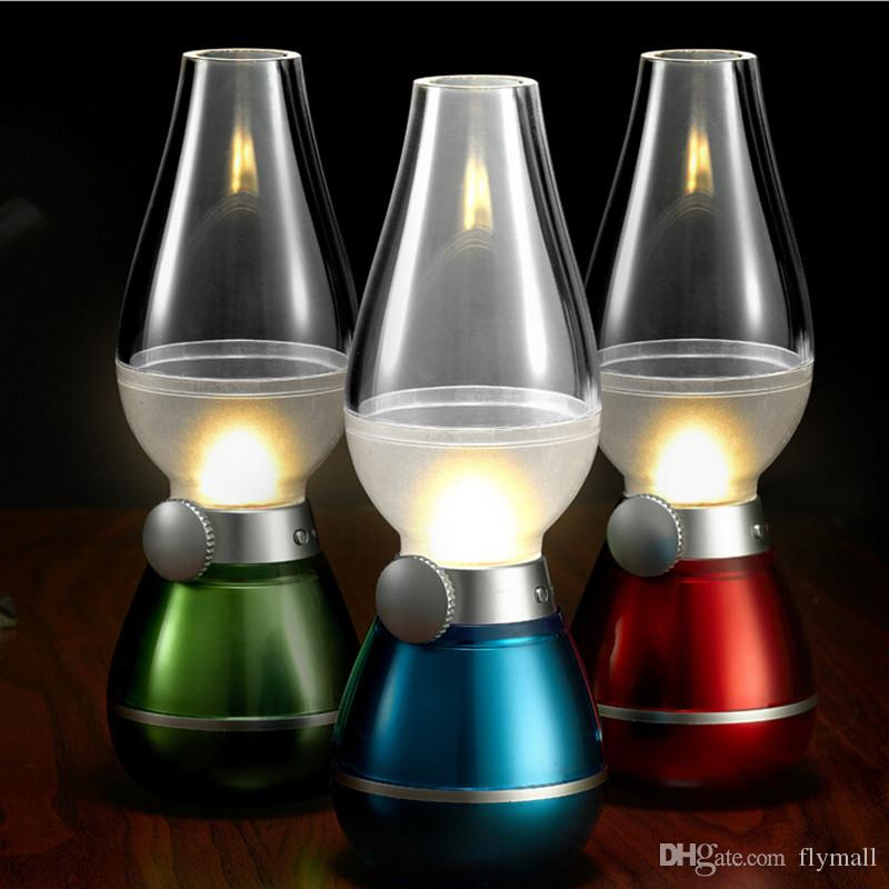 LED Blowing Control Retro Kerosene Lamp USB Rechargeable Lamp ...