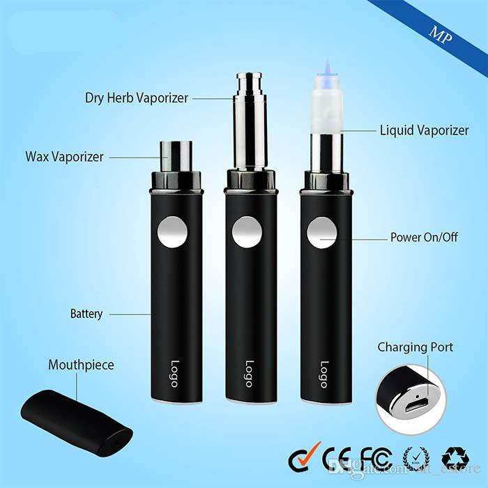 3 in1 e cig Vaporizer kit vape pen included 510 oil cartridge eliquid glass wax ago dry herb atomizers all starter kits