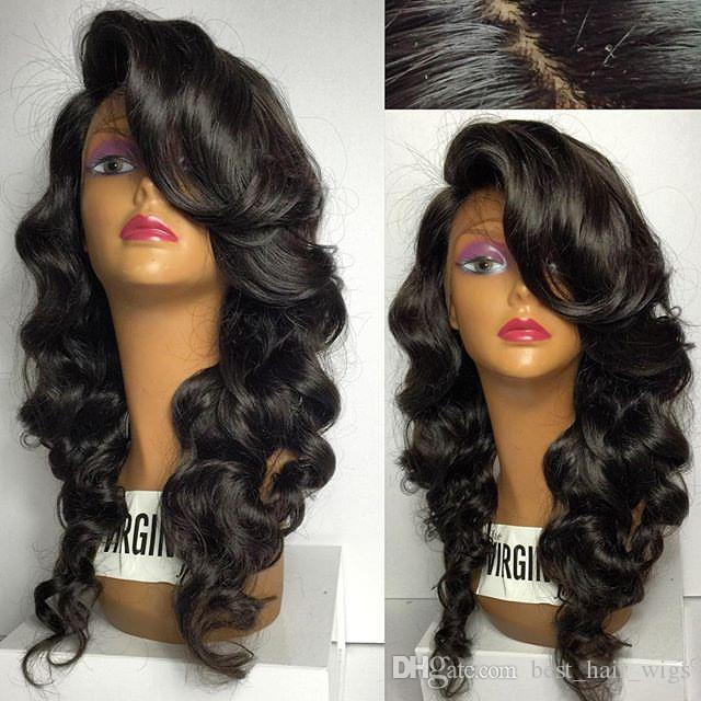Deep Wave Lace Front Wigs Glueless Side Part Full Lace