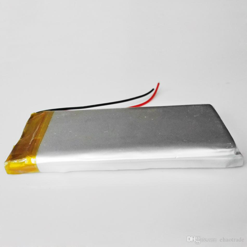 Model 683566 3.7 V 1600 mAh LiPo Şarj Edilebilir Pil Lityum Polimer pil Mp3 DVD PAD Cep Telefonu GPS Güç Banka Kamera E-kitaplar Kaydedici