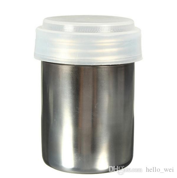 Stainless Steel Chocolate Shaker Duster With Cute Coffee Barista Stencils Kitchen Cooking Tools Accessories