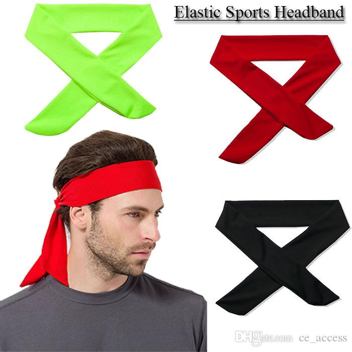 2017 Solid Cotton Tie Back Headbands Stretch Sweatbands Hair Band Moisture Wicking Workout Men Women Bands