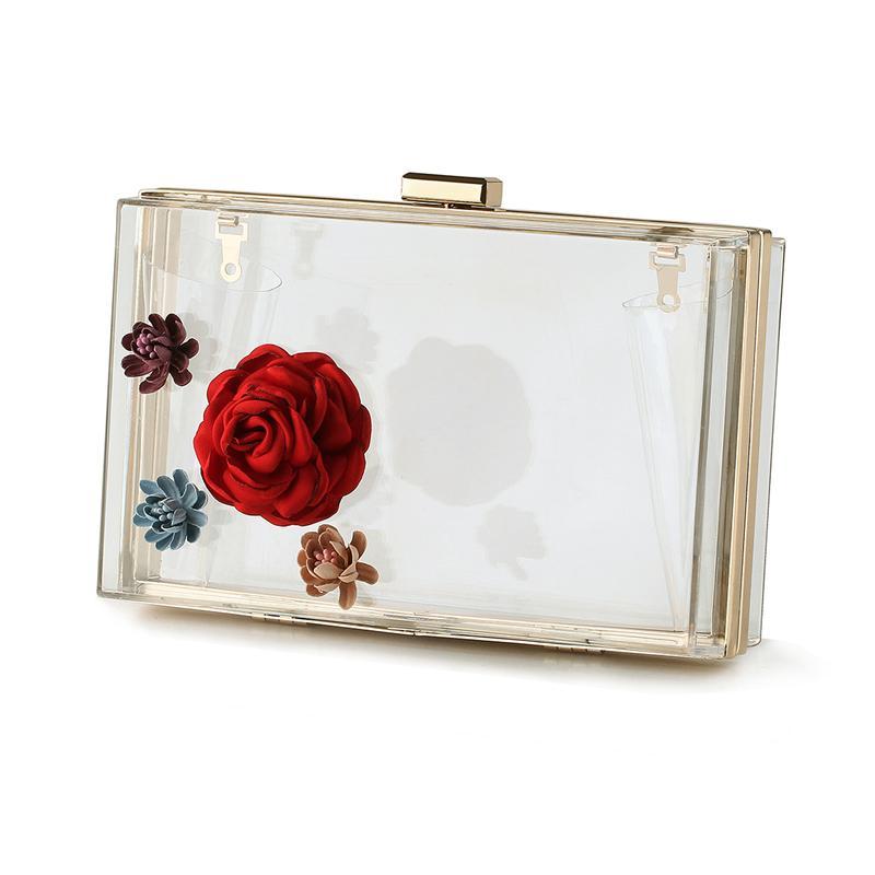 560559c4d25dd Wholesale- Women Evening Bag Acrylic Transparent New Chain Box Bag ...