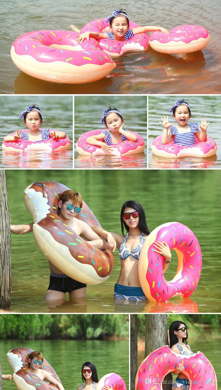 Schwimmfloß Aufblasbarer Schwimmring für Kinder und Erwachsene Schwimmflosse von Donut 30-120cm Aufblasbare Schwimmflosse von DHL