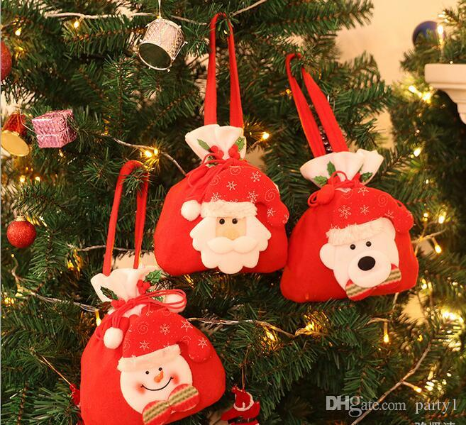 new hot sale christmas decorations gifts candy elderly gift tote bag cute best wholesale price christmas yard decorations clearance christmas decorations
