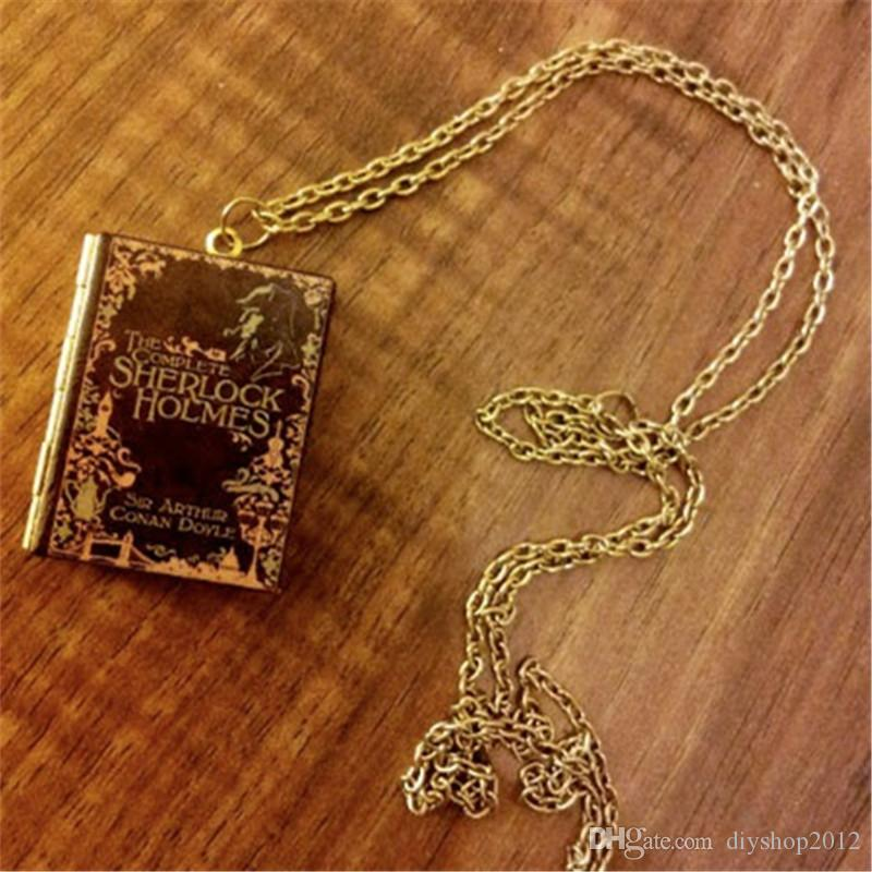 Wholesale pcs sherlock holmes book locket jewelry bronze antique wholesale pcs sherlock holmes book locket jewelry bronze antique jewelry pearl pendant necklace cheap pendant necklaces from diyshop2012 2221 dhgate aloadofball Images