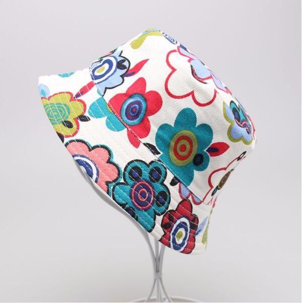 Nuevo es para niños Flor Bucket Hat Temperamento Ocio Sunny Child Sun Hat para niños de 2-6 años