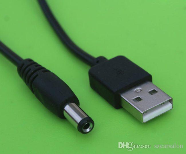USB 2.0 DC 3.5mm cable de carga 50CM / 1.5FT DC jack 1m 3FT 1.5M 5FT cargador enchufe