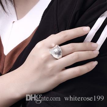 Commercio all'ingrosso - regalo di Natale di prezzi più bassi al dettaglio, spedizione gratuita, nuovo anello di moda in argento 925 R65
