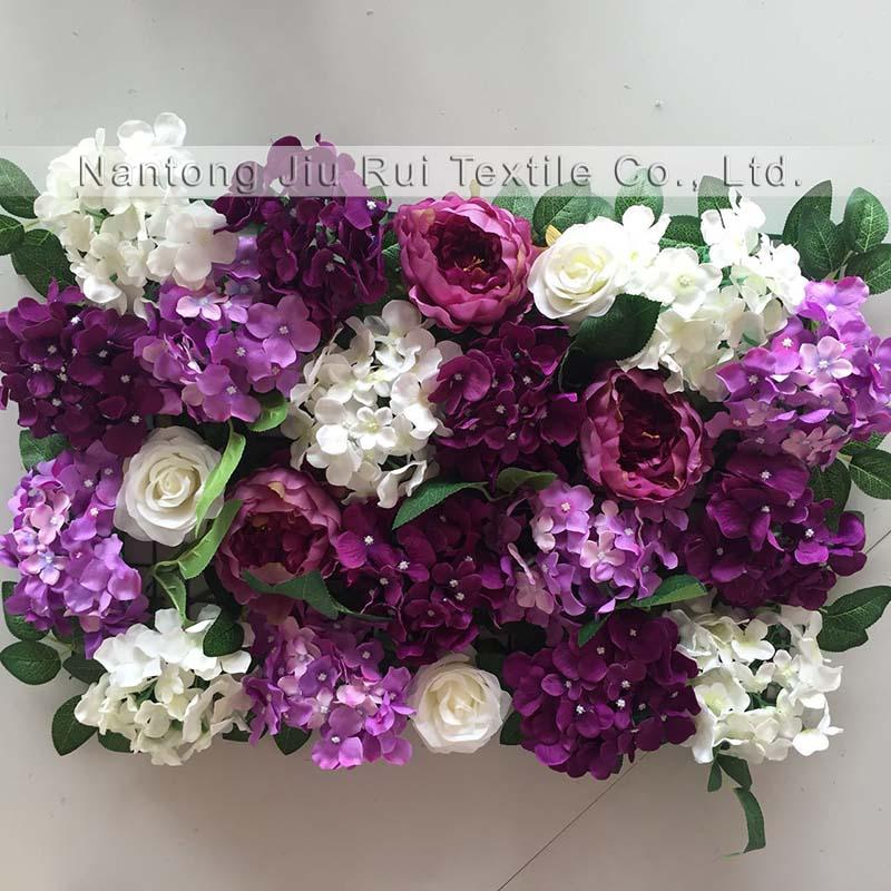 2018 2017 Purple With White Green Wedding Flower Wall Backdrop ...