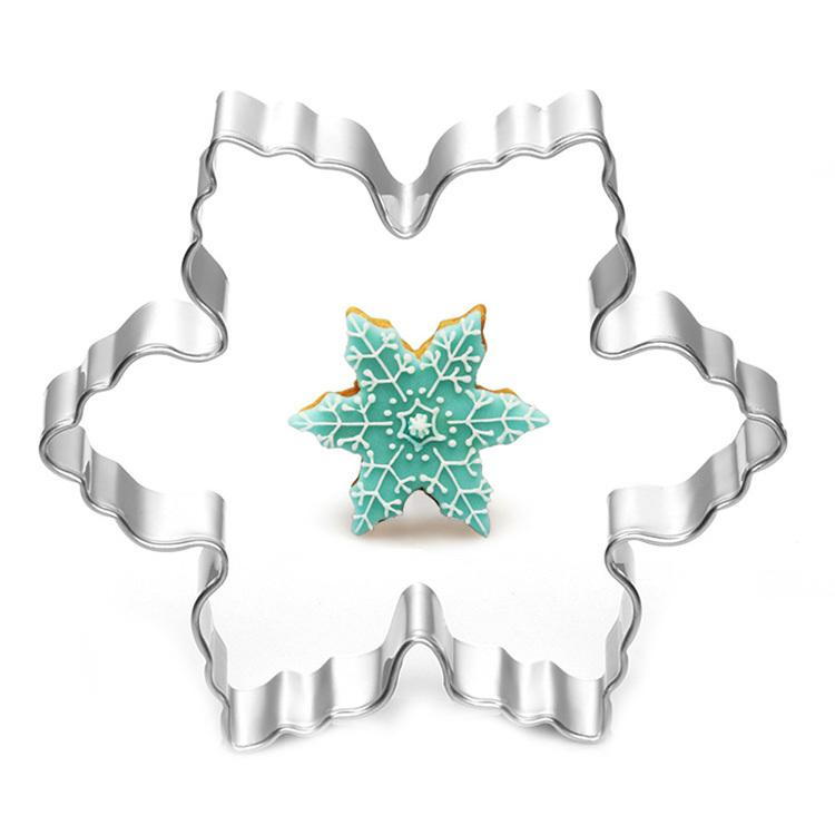 Wholesale- Stainless Steel Star Snowflake Biscuit Cutter Cookie Fondant Cake Icing Mold Diy Baking Tool 7.8*7.8*2cm