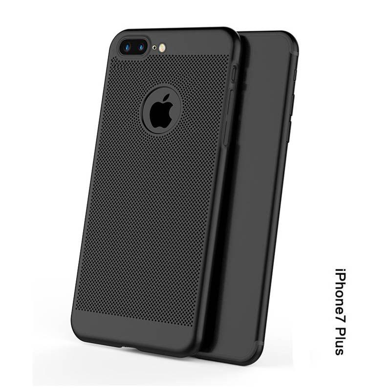 Custodia Slim iPhone XR Xs Max Custodia Traspirante Dissipatore di calore PC Slim Colorato Scrub Cover Samsung S8