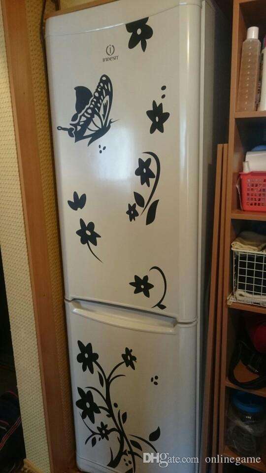 كرمة زهرة ملصقات الحائط الثلاجة الزينة diy الرئيسية الشارات الفينيل الفن ملصقات adesivos دي باريديس غرفة جدارية
