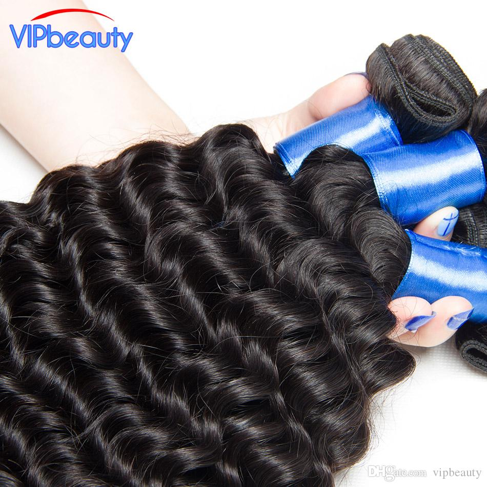 ali moda Indian virgin hair extension natural color 1b no shedding and tangle free 8A mink Indian deep wave virgin hair human hair weave